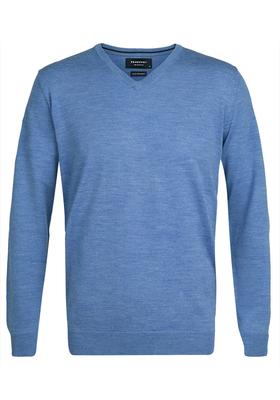 Profuomo Originale Slim Fit, heren trui wol, licht blauw