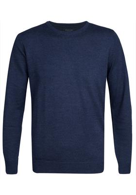 Profuomo Originale Slim Fit, heren trui wol, indigo blauw