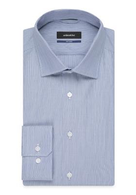 Seidensticker Tailored Fit, blauw-wit gestreept