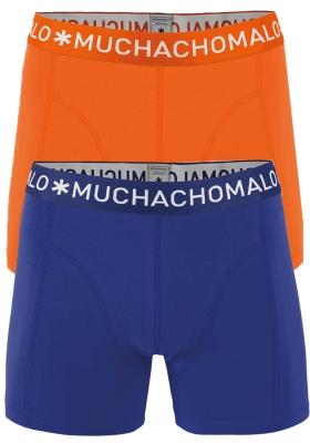 Muchachomalo boxershorts, 2-pack, solid oranje en blauw