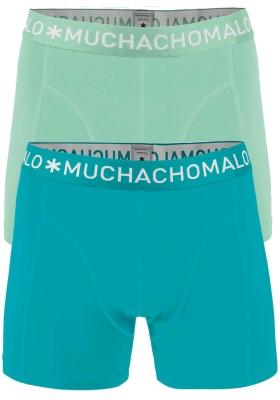 Muchachomalo boxershorts, 2-pack, solid lichtgroen en aqua