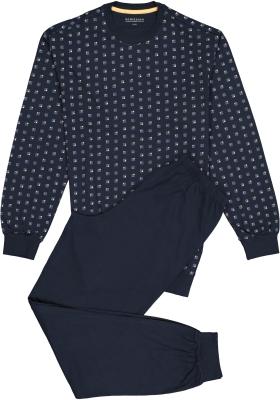 Schiesser heren pyjama, donkerblauw dessin