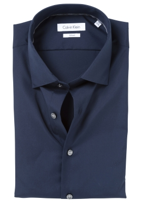 Calvin Klein poplin Fitted overhemd, midnight blue