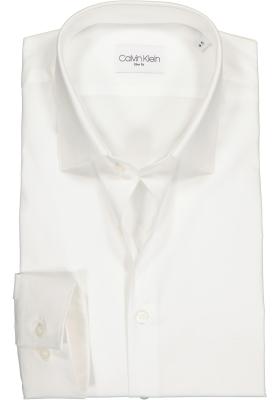Calvin Klein slim fit overhemd, 2-ply stretch, wit