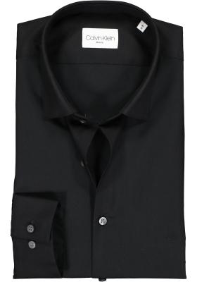 Calvin Klein slim fit overhemd, 2-ply stretch, black