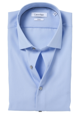 Calvin Klein poplin Fitted overhemd, soft blue