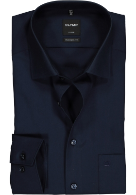 OLYMP Modern Fit overhemd, donkerblauw