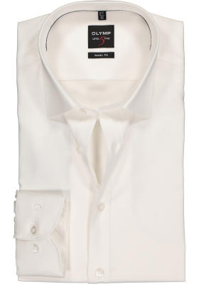OLYMP Level 5 Body Fit overhemd, off white twill