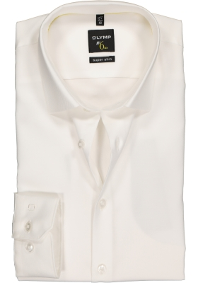OLYMP No. 6 Six, Super Slim Fit overhemd, off white twill