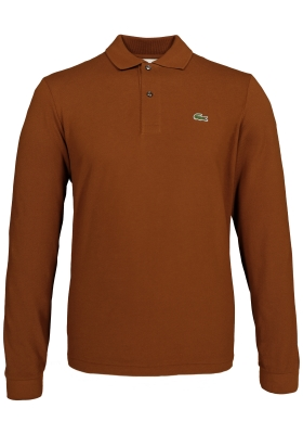 Lacoste Classic Fit polo lange mouw, roestbruin