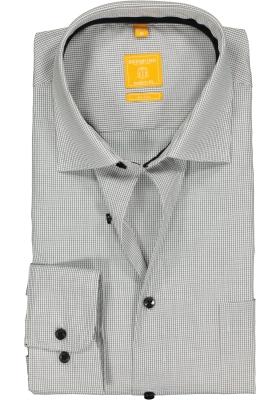 Redmond Modern Fit overhemd, zwart-wit geruit (contrast)