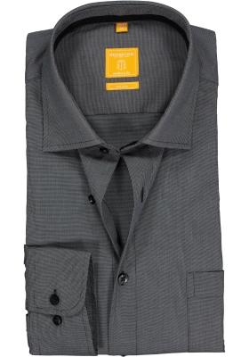 Redmond Modern Fit overhemd, antraciet (contrast)
