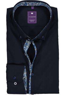 Redmond Slim Fit overhemd, blauw (contrast)