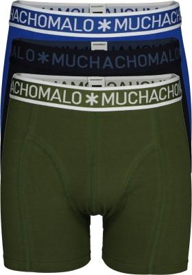 Muchachomalo boxershorts 3-pack, army, zwart en blauw