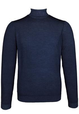 OLYMP Level 5, heren coltrui wol, marine blauw (Slim Fit)