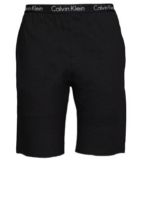Calvin Klein Sleep Cotton, korte zwarte lounge broek