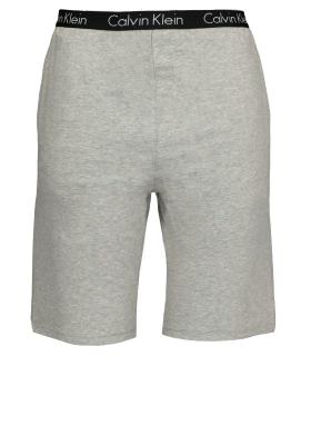 Calvin Klein Sleep Cotton, korte grijze lounge broek