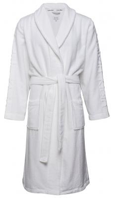 Calvin Klein heren badjas, badstof, wit