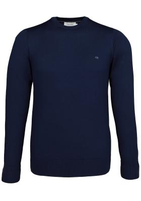 Calvin Klein superior wool crew neck pullover, heren trui wol, donkerblauw