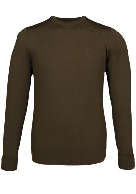 Calvin Klein superior wool crew neck pullover, heren trui wol, olijfgroen