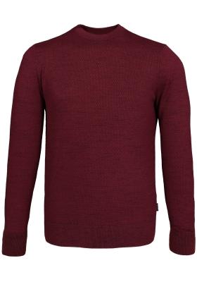 Calvin Klein structure space dye sweater, heren trui, bordeaux rood