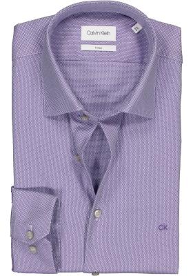 Calvin Klein structure Fitted overhemd, viola structuur mini dessin