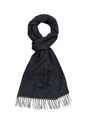 Profuomo heren sjaal, donkerblauw met grijs melange