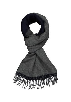 Profuomo heren sjaal, navy blauw met grijs kasjmier
