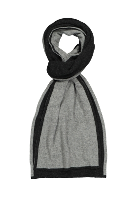 Profuomo heren sjaal, antraciet - grijs