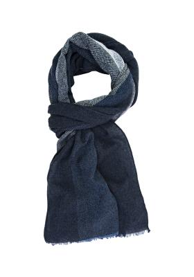 Profuomo heren sjaal, blauw gestreept