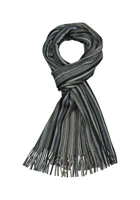 Michaelis heren sjaal, zwart-grijs gestreept