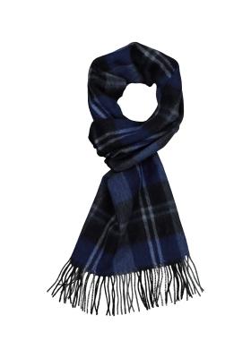 Michaelis heren sjaal, grijs blauw geruit