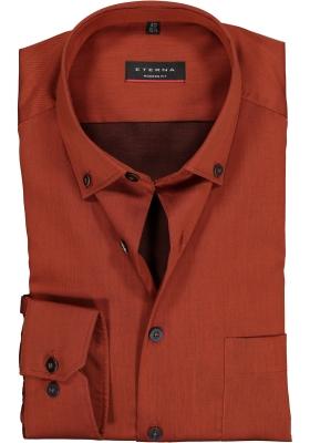 Eterna Modern Fit overhemd, roestbruin