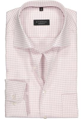 ETERNA Comfort Fit overhemd, roze-wit geruit