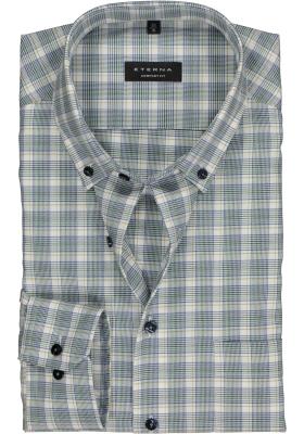 ETERNA Comfort Fit overhemd, blauw-groen-wit geruit