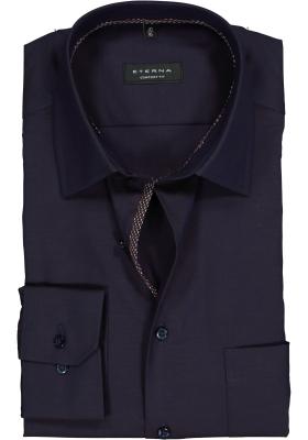ETERNA Comfort Fit overhemd, donkerpaars Oxford (contrast)