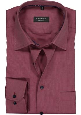 ETERNA Comfort Fit overhemd, bordeaux rood structuur