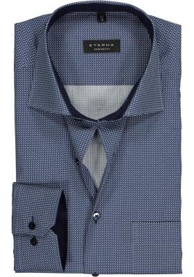 ETERNA Comfort Fit overhemd, blauw mini dessin (contrast)