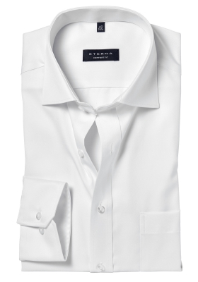 ETERNA Comfort Fit overhemd, wit niet doorschijnend twill