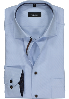 ETERNA Comfort Fit overhemd, lichtblauw structuur (contrast)