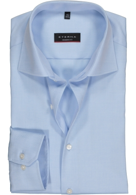 ETERNA modern fit overhemd, niet doorschijnend twill heren overhemd, lichtblauw
