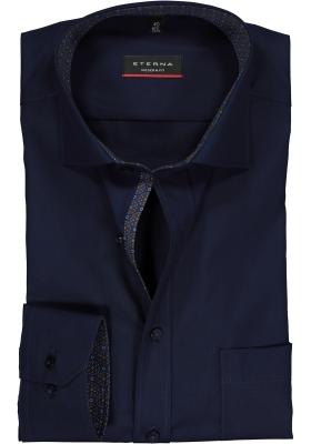 ETERNA Modern Fit overhemd, donkerblauw (contrast)