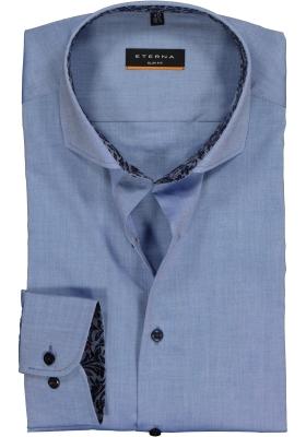 Eterna Slim Fit Stretch overhemd, blauw (contrast)