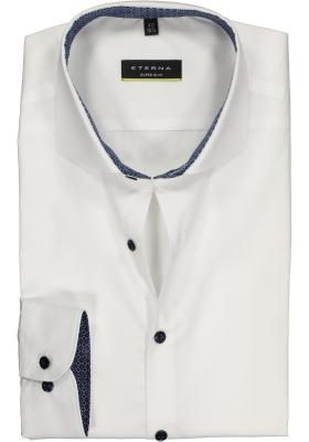 Eterna, Super Slim Fit Stretch overhemd, wit (contrast)