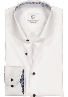 ETERNA 1863 Modern Fit overhemd, 2-ply wit twill premium (contrast)