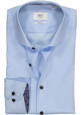 ETERNA 1863 Modern Fit overhemd, 2-ply lichtblauw twill premium (contrast)