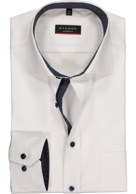 Eterna Modern Fit overhemd, mouwlengte 7, wit (contrast)