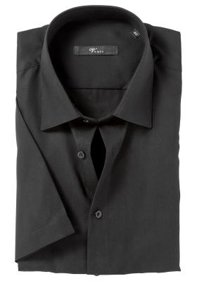Venti Modern Fit overhemd korte mouw, zwart