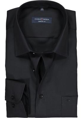CASA MODA comfort fit overhemd, zwart