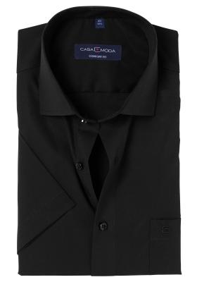 Casa Moda Comfort Fit, overhemd korte mouw, zwart